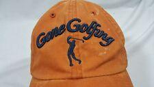 Game Golfing Baseball Hat Adjustable Distressed Used Orange Cap Strap
