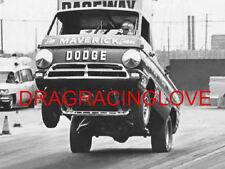"""Little Red Wagon"" Bill ""Maverick"" Golden Dodge Pick Up Wheelstander PHOTO! #(5)"