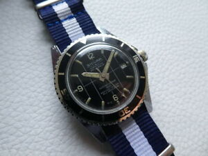 Very rare Vintage SICURA BREITLING Submarine 400 Men's Diver watch from 1970's!
