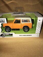1973 Ford Bronco Jada 1/43 Just Trucks Diecast Toy In Box Orange Truck