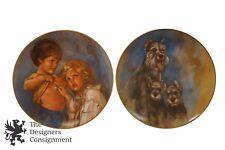 Kern Collectibles Leo Jansen Collector Plates Ltd Ed Future Physician Schnauzers