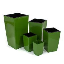 Medium Olive Orchid Pot Square Home Office Desk Flower Pot RAISED bottom