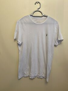 Mens All Saints White T-Shirt Size Small Summer Casual Muscle Short Sleeve Top