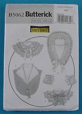 BUTTERICK Sewing Pattern B 5062 MISSES HISTORICAL COLLARS CUFFS NEW UNCUT 2007