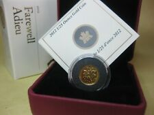 2012 $.01 Pure Gold Coin - Farewell to the Canadian Penny
