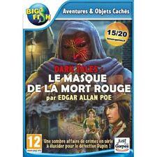 JEU PC LE MASQUE DE LA MORT ROUGE EDGAR ALLAN POE AVENTURES WINDOWS XP/VISTA/7/8