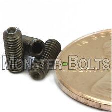 M3-0.50 x 8mm - Qty 10 - DIN 916 CUP Point Socket SET SCREWS Black Alloy 45H