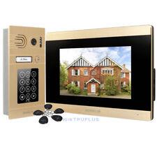 HOMSECUR Golden Video Door Intercom with Password IC Keyfob Access & Recording