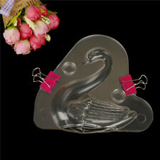 3D Swan Shape Plastic Chocolate Mould Fondant Mold DIY Baking Decorating ToolFF