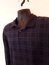 David Taylor Collection Mens L Long SLeeve Shirt 1/4 button up