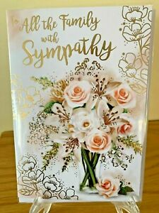 To All The Family With Sympathy Cards Bereavement Condolence Dies Died Quality