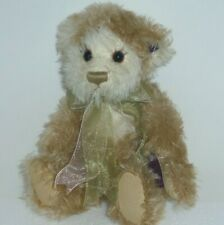Caramel & Cream 12in Annette Funicello beige & white mohair teddy bear in box
