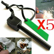 5X survival Camping Emergency Gear Kit Magnesium Flint Stone Fire Starter Light
