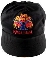 The Beast Roller Coaster Kings Island Ohio OH Satin Finish VTG Strapback Cap Hat
