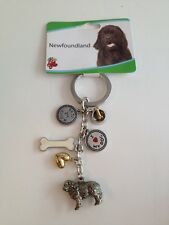 Newfoundland Key Chain With Charms From Little Gifts ~New~