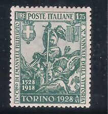 ITALIA REGNO : FILIBERTO 1928, 1,75 LIRE NUOVO* LINGUELLATO CON  GOMMA INTEGRA