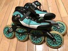 Vanilla Inline rollerblade Speed Skates Us Mens Size 9 Teal Turquoise