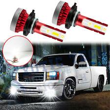 LED Fog Light Bulbs 6000K 9145 For GMC Yukon Hybrid 2008-13 Canyon 05-12 Sierra