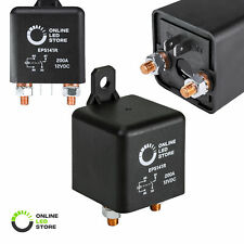 OLS 12v DC 200 Amp Split Charge Relay Switch 4 Terminal Relays for Truck Marine