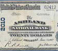 KY 1902 $20   ♚♚ ASHLAND,KENTUCKY ♚♚   THE ASHLAND NB