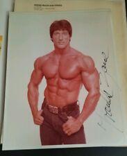 Bodybuilder FRANK ZANE Autographed hand-signed muscle ORIGINAL photo