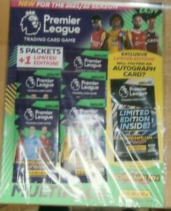 Panini Adrenalyn XL Premier League 2021/22 Trading Cards Multipack 5 packs + Ltd