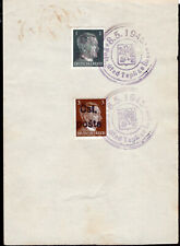 2462 CZECHOSLOVAKIA LOCAL POST TEPLICE END OF WWII SPECIAL CANCEL STAMP ON PAPER
