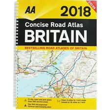AA 2018 Concise Road Atlas Britain Spiral Bound (Road Map)