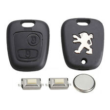 Peugeot 2 Button Remote Key Fob Case Refurbishment Repair Kit Fits 106 206 306