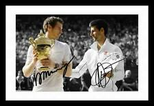 ANDY MURRAY & NOVAK DJOKOVIC AUTOGRAPHED SIGNED & FRAMED PP POSTER PHOTO