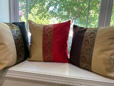 "Pillow cover/ Cushion Cover, Silk, Brocade, 16"" X 16"", Indian Pillow, Formal"