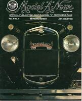 """1931 Deluxe Tudor - Model """"A"""" News Official Publication Vol.40 NO.4 1993"""