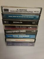 Lot of 8 Vintage Cassettes Tapes - All Tested and working 100% Classic Rock Slow
