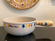 Vintage Le Creuset Enamel Cast Iron Fondue Pot