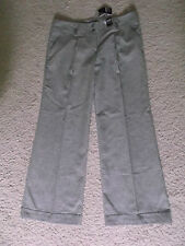 Atmosphere Grey Check Linen Wide Leg Trousers Size 16 New