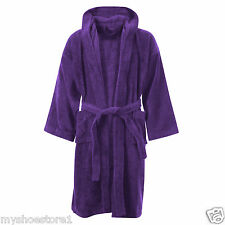 KIDS BOYS GIRLS BATHROBE 100% EGYPTIAN COTTON TOWELLING DRESSING GOWN SOFT TOWEL