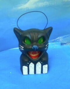 "1999 Seasons Gone By paper mache pulp Scaredy Cat 7"" jack-o-lantern lantern!"