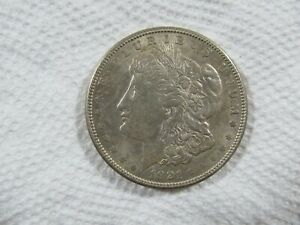 1921-S  Morgan Silver Dollar in a AU-MS Cond, Great luster   Lot #58