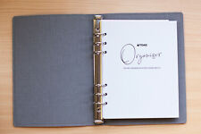 Personalised A5 Personal Organiser, Real Leather, Fits Filofax Refills + Formats