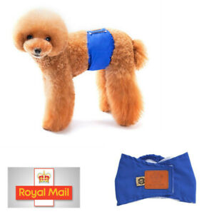 Male Dog Puppy Belly Wrap Band Nappy Diaper Sanitary Holder Pants Underpant Bkue