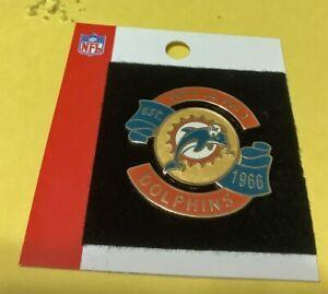 MIAMI DOLPHINS ESTABLISHED 1966 NFL TEAM LOGO VINTAGE COLLECTOR PIN