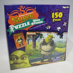 DreamWorks Shrek 150 Pc Jigsaw Puzzle Sticker Sheet Poster Ages 5+ Sealed