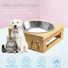 New ListingDual/Single Pet Bowls Dish Dog Cat Puppy Stand Feeder Food Water