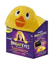 """AS SEEN ON TV - Bright Eyes  Blanket by Snuggie - Glow In The Dark Eyes """"Duck''"""