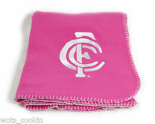 AFL Carlton Blues Pink Polar Fleece Throw Official AFL Product Ladies Women