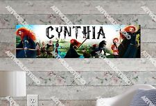 Personalized/Customized Princess Merida Name Poster Wall Art Decoration Banner
