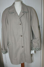Isle Collection UK18 EU46 US14 new natural showerproof jacket with check trim
