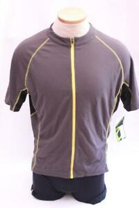 New Cannondale Men's Classic Jersey Cycling Bike Large Gray Short Sleeve