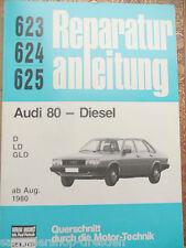 15020 Pietsch Reparaturanleitung: 623 624  Audi 80 Diesel D LD GLD ab Aug 1980