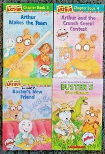 ARTHUR TITLES PAPERBACK 4 CHILDRENS CHAPTER BOOK LOT SHARMAT FREE SHIP